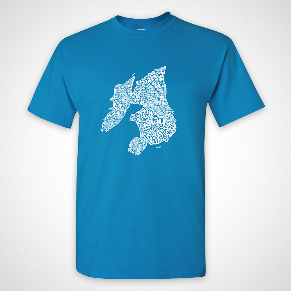 Islay Type Map T-Shirt