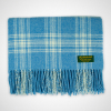 Scottish Check Baby Blanket Blue